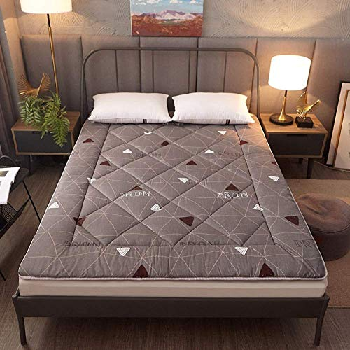 CYQ Japanese Tatami reversible mat Soft Mat Futon thick mattress Comfortable and comfortable folding mattress for guests of children - 150x220 cm (59x87 inches) -c