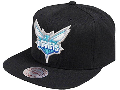 Mitchell & Ness NBA Charlotte Hornets 348VZ Easy Three Digital XL Snapback Cap Black Kappe Basecap
