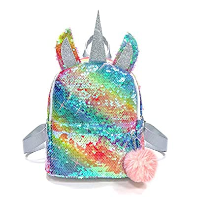 PTN Mochila Unicornio para Niños Pequeños, Nursery Toddle Children School Bag Bolsa Almuerzo, Cute Unicorn Design 3D Cartoon Mochila Preescolar, Regalos y Regalos Mochila Pequeña para Niños