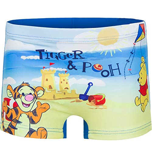 Winnie l'ourson Costume de bain pour enfant 12-18 - 24-36 mois Disney Bleu bleu 3 ans