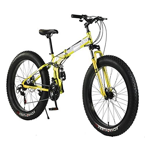 Tbagem-Yjr 26 Pulgadas Rueda 21 Veloz Engranaje Bicicleta Adulto Gordo neumático nevado Nieve montaña Sendero Bicicleta de Acero Alto-Carbono Marco Doble suspensión Doble Dual Disco Freno