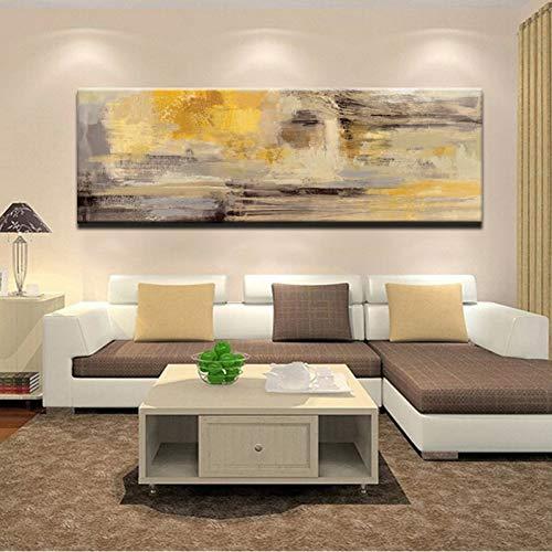 ZXMPGYH Carteles e Impresiones Arte de la Pared Pintura en Lienzo Moderno Abstracto Dorado Amarillo Carteles Arte de la Pared Cuadros para la Sala de Estar Interior