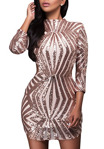 made2envy Sequin Detail Open Back Party Mini Dress (XL, Gold) LC22891GXL