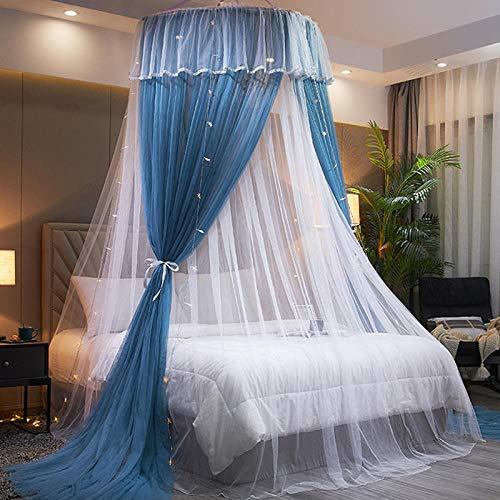 XNSY Dosel para Cama Cortinas de Cama de Verano para mosquiteros domésticos-Azul_Cama de 1.35m