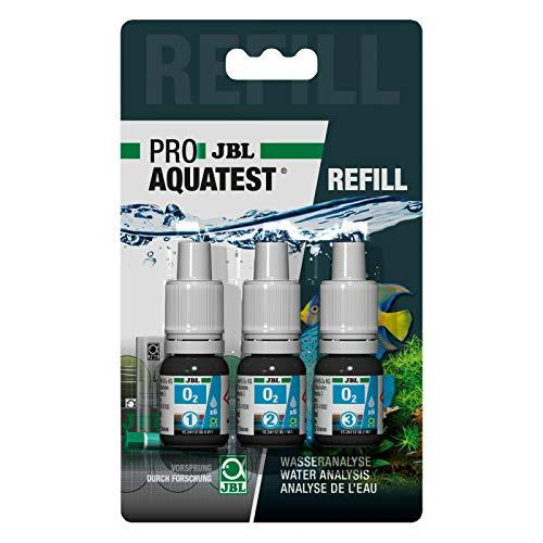 JBL O 2 Reagens / Refill Nachfüll O2 Sauerstoff Test Schnelltest zur Bestimmung des Sauerstoffgehalts in Süß-/Meerwasser-Aquarien & Teichen