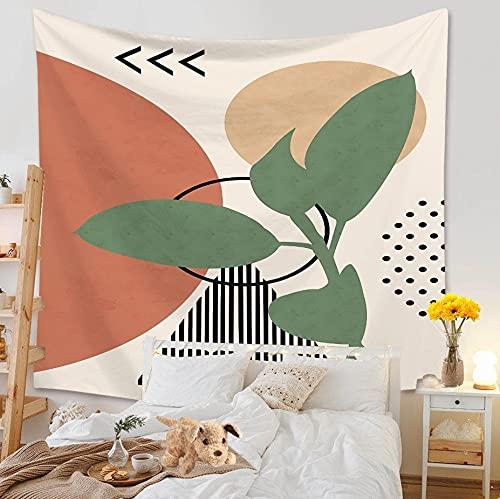 PPOU Ins Decoración para el hogar Morandi Personaje Simple y Fresco Tapiz para Colgar en la Pared Tela Sala de Estar Fondo Mural Alfombra de Playa A22 150x200cm