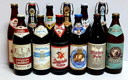 Bier Box Fränkische Bierspezialitäten 12 Fl. je 0,5 Ltr. Bier aus Franken gemischt mit 12 verschiedenen Sorten Incl Pfand I Geschenk für Männer I Bier Test