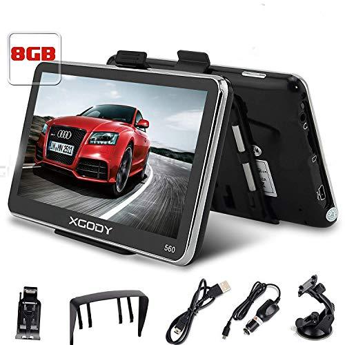 Xgody 560 GPS-Navigationssystem, 12,7 cm (5 Zoll) Navigationsgerät, mit integriertem Touchscreen, 8 GB, 128 MB RAM, FM, MP3, MP4, Karten-Navigator mit Sonnenschutz (560F + SC)