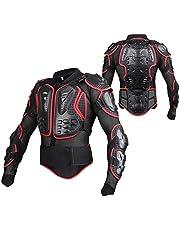 Wildken Motorrad Schutz Jacke Pro Motocross ATV Protektorenjacke mit Rückenprotektor Scooter MTB Enduro für Damen und Herren