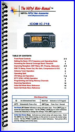 Icom IC-718 Mini-Manual by Nifty Accessories