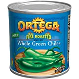 Ortega Peppers, Whole Green Chiles, Mild, 27 Ounce (Pack of 12)