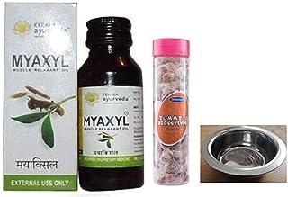 MYAXYL Pain Killer Oil Massage Oil Kerala Ayurveda, 60 ml- Pain Relief Oil; With Free Dilbahars Yummy Digestives Manchali ...