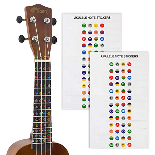 Tijger Ukulele Note Sticker Pack of 2
