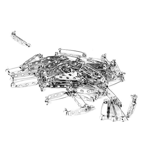Approx.50Pcs Brooch Back Safety Catch Bar Pins 25mm--Great Additions for Your Custom Brooch, Pin, Badge or Any Other Craft Project that Requires A Pin