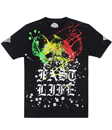 KMN Gang Fast Life T-Shirt Head, Farbe:schwarz, Größe:M