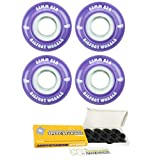 Bigfoot Skateboard Wheels 83A Soft Street Cruiser Filmer with Ceramic Bearings (Purple, 55mm)