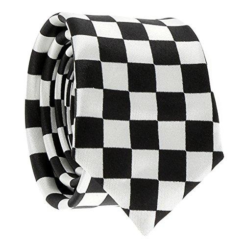 Cravate Noire et Blanche Damier - Cravate Originale Carreaux