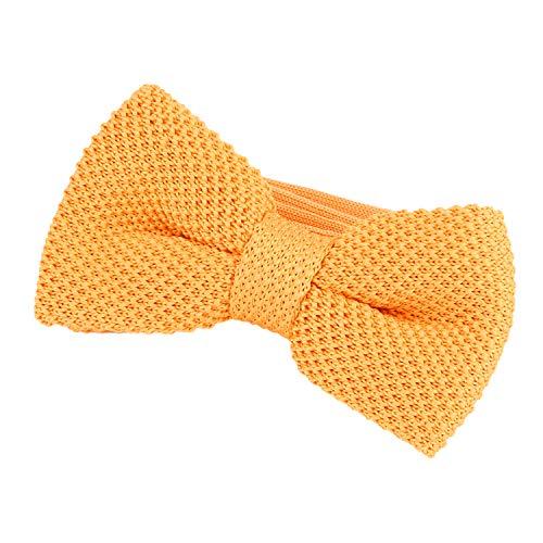 DonDon Papillon uomo fatto a maglia annodato e regolabile 11 x 6 cm giallo