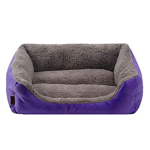 PULLEY Sofás avanzados suaves para mascotas, gatos, cachorros y perros, se lava cálido y cómodo cojín Torno (L,XL morado verde) (color: morado, tamaño: XL)