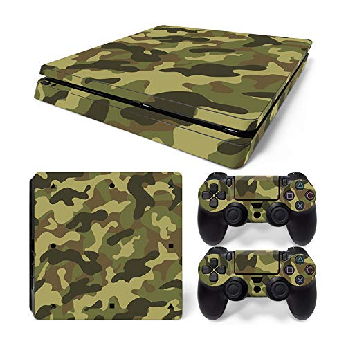 Mcbazel Pattern Series Vinyl Skin Sticker For PS4 Slim Controller & Console Protect Cover Decal Skin (Camouflage)