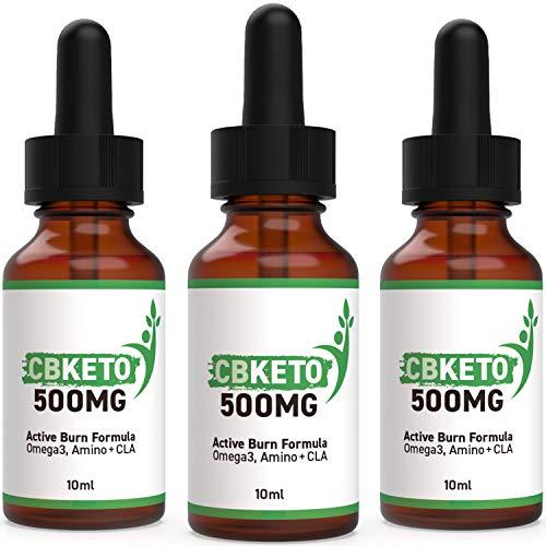 CBKETO 500MG – Active Burn Formula Tropfen (3 Flaschen je 10 ml)