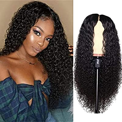 Curly Lace Closure Wigs Brazilian Curly Lace Front Wigs Virgin Hair Wigs for Black Women Natural Color