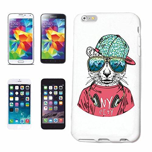 Reifen-Markt Hard Cover - Funda para teléfono móvil Compatible con Samsung Galaxy S8+ Plus Tigre Fresco con los Auriculares y Gafas de Sol Gato Grande del Tigre LE