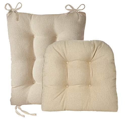 Klear Vu Gripper Jumbo Saturn Rocking Chair Cushion Set, Natural