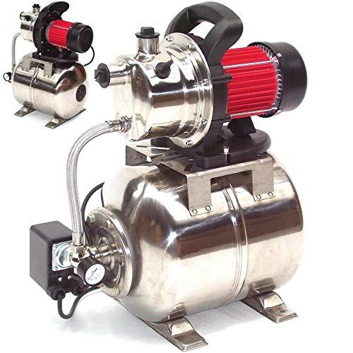 D&L Edelstahl Hauswasserwerk 3800L Gartenpumpe Wasserpumpe Pumpe 44323 Bewässerung Edelstahl, Membrandruckbehälter,AWZ Druckkessel Membrankesse Ausdehnungsgefäß AWZ