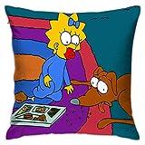 ChenZhuang Fundas de almohada The Simpson-Square, fundas de almohada para cama, fundas de almohada para sofá, dormitorio, Livi.