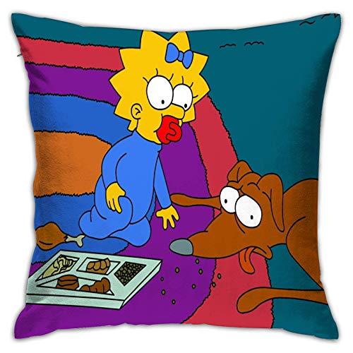 ChenZhuang Fundas de almohada The Simpson-Square, fundas de almohada para cama, fundas de almohada p
