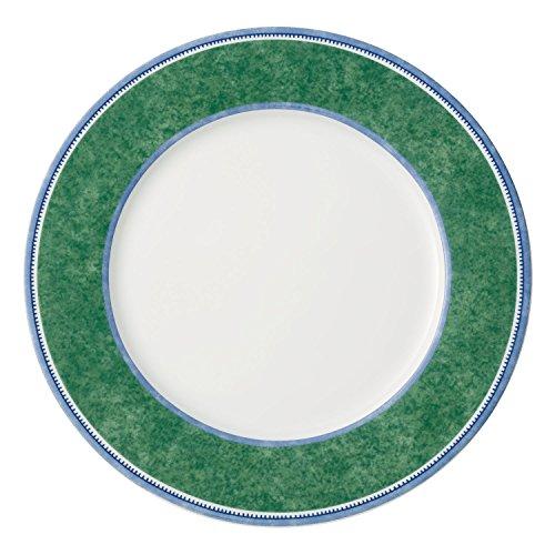 Villeroy und Boch Switch 3 Costa Speiseteller, Teller für Kalt- und Warmspeisen, spülmaschinen- und mikrowellengeeignet, weiß/grün/blau, rund, 27 cm
