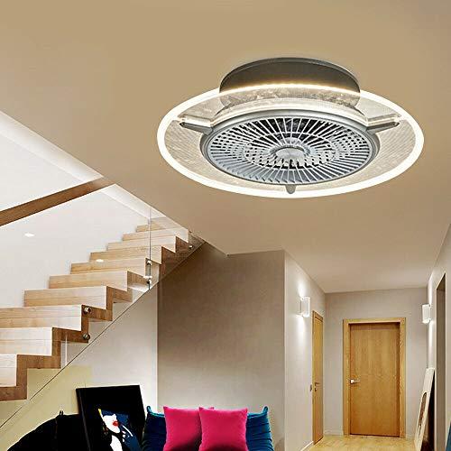 Berkalash Deckenventilator mit Beleuchtung, 48W Einstellbar Lüfter Schlafzimmer-Lampe mit Fernbedienung, Fan Leise Wohnzimmer Schlafzimmer Kinderzimmer Deckenlampe