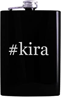 #kira - 8oz Hashtag Hip Alcohol Drinking Flask, Black