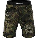SMMASH Combat 3.0 Shorts MMA Mens, Professional Sportswear, Antibacterial Material, Perfect to MMA, BJJ, Grappling, Krav Maga, Kick Boxing, UFC, Workout Shorts Made in Europe (M)