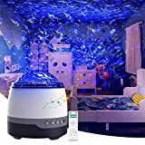 Galaxy Projector, Star Light Projector for Bedroom, Sleeping Soothing White Noise Sound Machine with Remote,...