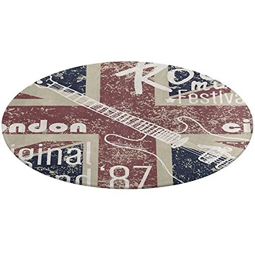 Korallensamt-Bodenmatte rutschfeste Mit Starker Wasseraufnahme Teppich Britische Flagge