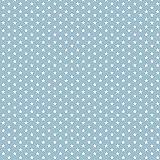 babrause® Baumwollstoff Mini Sterne Hellblau Webware