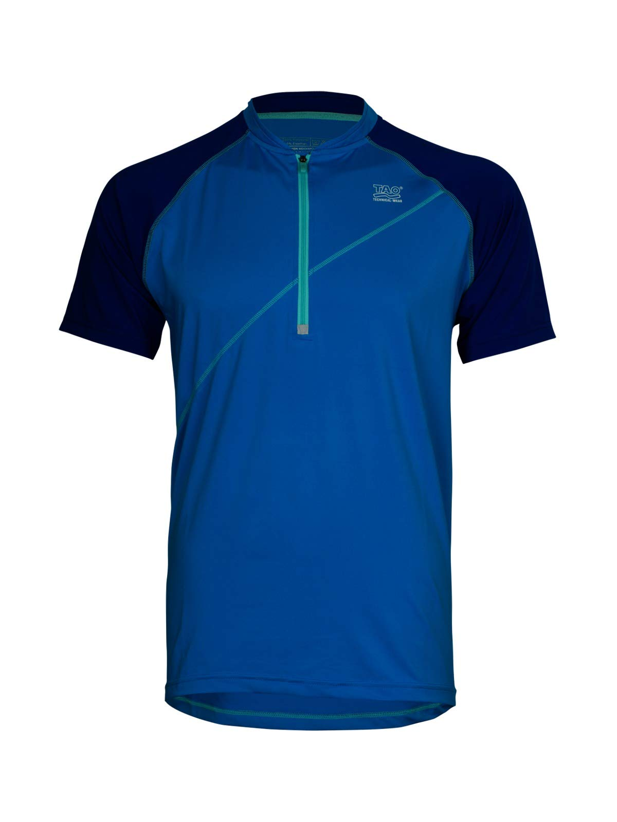 TAO Sportswear Herren Kurzarm Laufshirt Pulse Running, Bali/Cobalt, 46