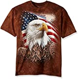 The Mountain Independence Eagle Adult T-Shirt, Brown, XL