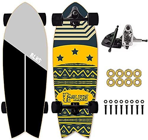 Skateboard Tablero Completo Kids Surfskate 29 Longboard CX4 Camión Coche Tabla de Surf para Bombas Cruisen Carven y para Surf Convierte el Tablero Mini Cruiser Skateboards para los Principiantes