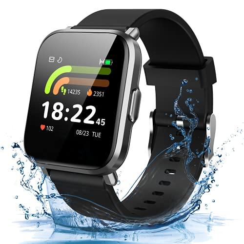 Smart Watch Orologio Fitness Donna Monitoraggio Sangue Ossigeno Pressione Sanguigna Frequenza Cardiaca Sonno DIY Schermo Contapassi Cronometro Notifiche Messaggi Smartwatch Android Samsung iPhone