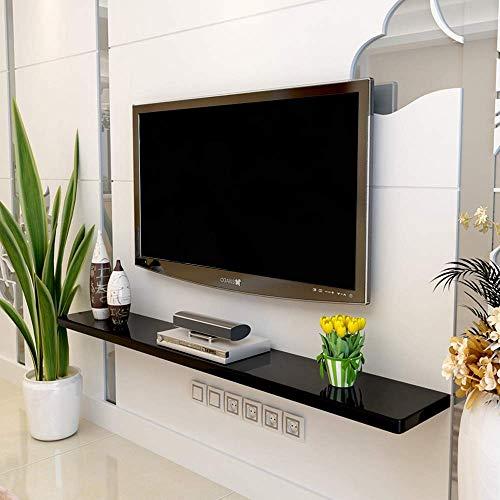 SFSGH Montado en la Pared Marco Flotante Consola de TV Caja de Cable Enrutador Control Remoto Reproductor de DVD Consola de Juegos Caja de TV satelital Estantería Estante de Montaje en p