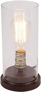 Hampton Bay 10 in. Faux Wood Vintage Uplight Lamp