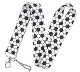 Lanyard Fútbol pelota cordón para el cuello tarjeta identificativa, para llaves, para móvil, para mascarilla, para teléfono.