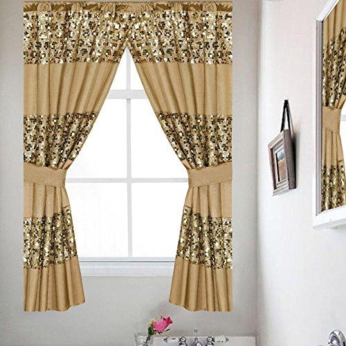 Popular Bath Sinatra Collection, Window Curtain, Champange Gold