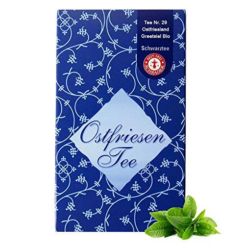 Schwarzer Tee Ostfriesland Tee Greetsiel Bio - Schwarztee lose - Schwarze Assam-Blatt-Mischung (125g)
