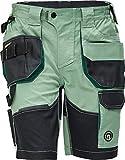 Dayboro Pantalones Cortos de Trabajo Ultra Cómodos - Bermudas Elásticas y Duraderas para Hombres - Verde 64