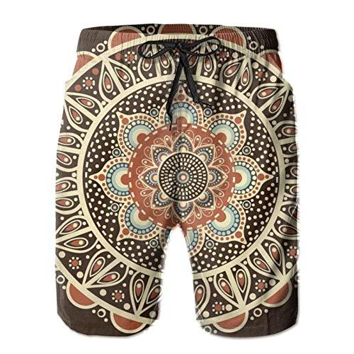 Estilo rústico de madera de campo Conjunto de puerta de madera de granero rústico de campo Pantalones cortos de playa cómodos para hombre Bañadores transpirables Pantalones cortos con cordón P