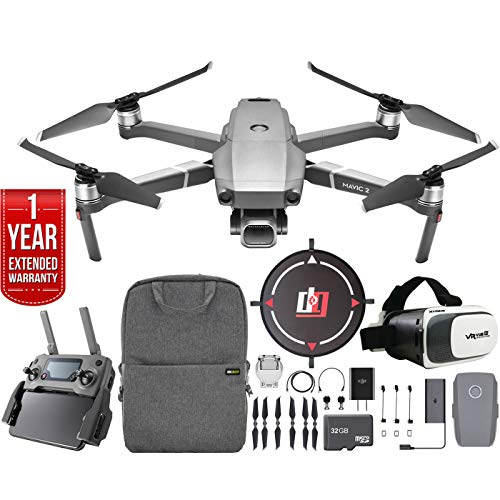 DJI Mavic 2 Pro Drone with Hasselblad Camera and 1-inch CMOS Sensor Bundle with Drone Landing Pad, 32GB Memory Card and Backpack